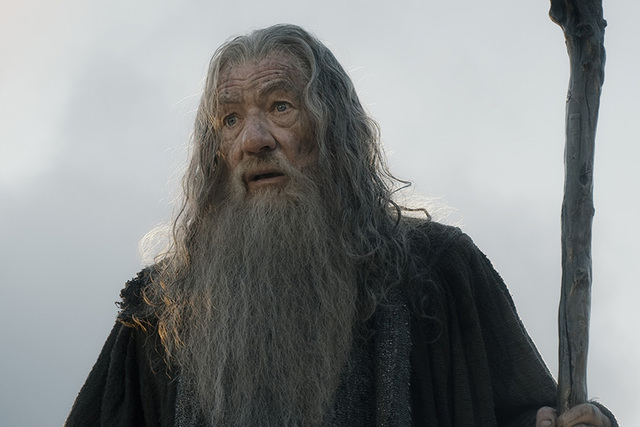 """Ian McKellen stars as Gandalf in """"The Hobbit: The Battle of the Five Armies."""" (Courtesy Warner Bros. Pictures)"""