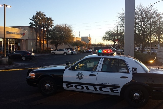 A robber shot and killed an employee at a Walgreens, 8500 W. Cheyenne, near Durango, just after 5 a.m. (Colton Lochhead/Las Vegas Review-Journal)