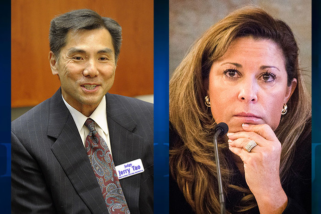 "Gov. Brian Sandoval today named Jerome ""Jerry"" Tao (left) and Abbi Silver (right) as inaugural appointments to the newly created Nevada Court of Appeals. (Las Vegas Review-Journal file photo)"