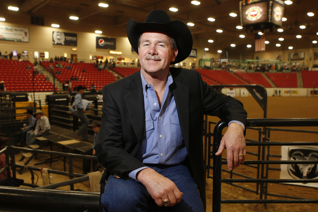 """Dave Appleton, a former rodeo star known as """"The Lone Roo,"""" is shown at the rodeo arena inside the SouthPoint in Las Vegas Thursday, Dec. 4, 2014. (Erik Verduzco/Las Vegas Review-Journal)"""