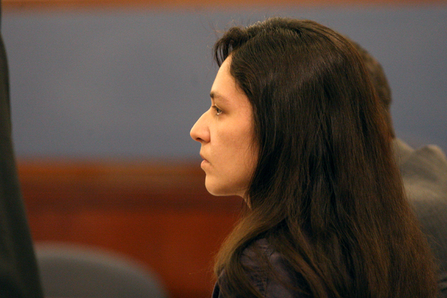 Galina Kilova, woman accused of leaving the scene of a hit-and-run accident that killed a man while he was pushing his granddaughter in stroller, listens to testimony from Matthew Davis during a p ...