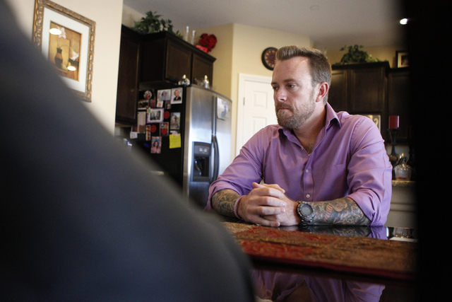 Jason Lamberth is interviewed about the wrongful death lawsuit his family is filing against the Clark County School District at the family's home in Henderson Tuesday, Oct. 21, 2014. The Lamberths ...