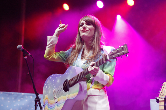 Jenny Lewis performs during the Life Is Beautiful music and art festival in downtown Las Vegas Friday, Oct. 24, 2014. (Erik Verduzco/Las Vegas Review-Journal)
