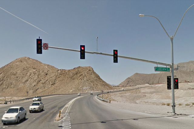 Lone Mountain and Interstate 15 (Google Street View)