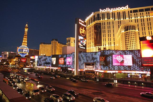 An external view of the Planet Hollywood hotel-casino in Las Vegas. (John Locher/Las Vegas Review-Journal)
