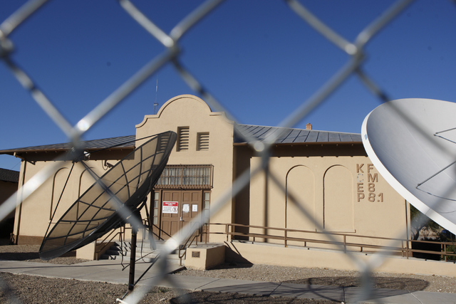 KCEP Radio station is seen next to the Westside Grammar School, 330 W. Washington Ave., in Las Vegas Tuesday, Dec. 23, 2014. Las Vegas leaders have secured financing for a long-planned $15 million ...