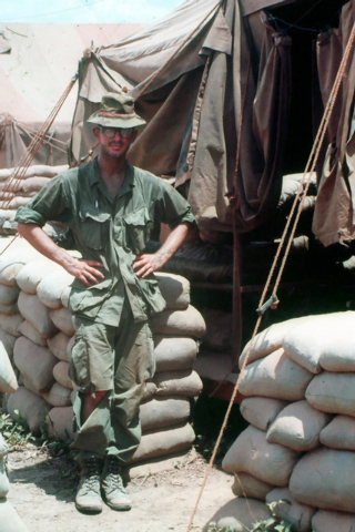 U.S. Marine Cpl. Steve Lowery, 21, poses in a portrait while serving as  radio operator for a Recon Team in the 3rd Reconnaissance Battalion at Quang Tri, Vietnam in June 1967. Note: Lowery had ju ...