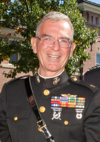Retired U.S. Marine Maj. Steve Lowery attends the Transfer of Command for the Commandant of the Marine Corps (CMC) at the Marine Barracks at 8th and I in Washington DC, Tuesday, Oct. 14, 2014. (Ph ...