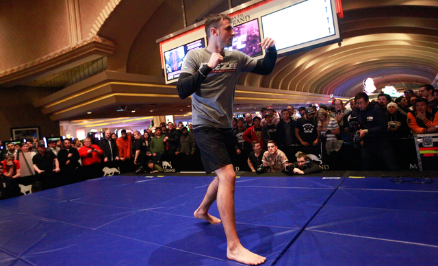 UFC fighter Myles Jury works out inside of the MGM Grand hotel-casino on Wednesday, Dec. 31, 2014. Jury is slated to face Donald Cerrone in UFC 182. (Chase Stevens/Las Vegas Review-Journal)