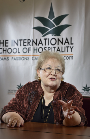 Patti Shock, academic consultant at The International School of Hospitality, is shown during an interview at the school at 3614 Sunset Road in Las Vegas on Thursday, Dec. 4, 2014. (Bill Hughes/Las ...