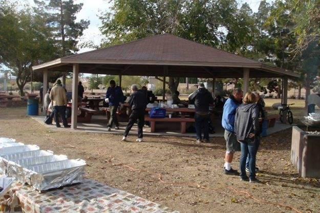 Individuals gather during a service hosted by NextStep Ministries. The ministry plans its third annual Christmas with the Homeless event at 11 a.m. Dec. 20 at 222 Navajo Drive. (Special to View)