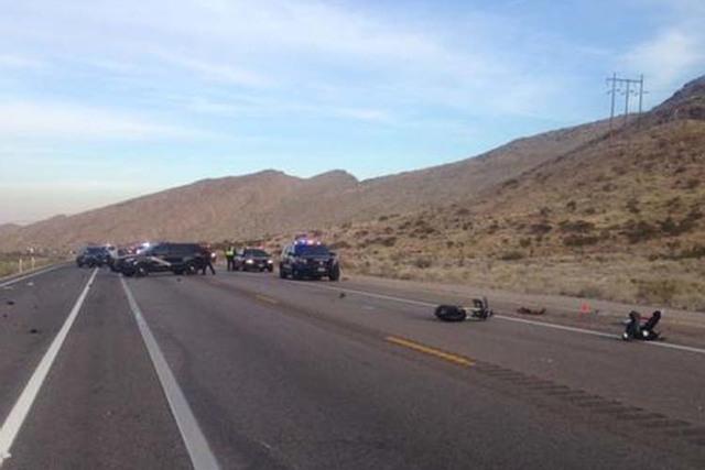 """""""NHP investigating fatal motorcycle collision. SR160 mm16. Both directions diverted into shoulder."""" (NHP Southern Command/Twitter)"""