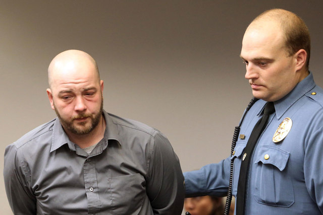 Joshua Malmgren is led out of the Cape May County superior courtroom after he was sentenced to 18 years state prison on Friday Dec 5,  2014, in Cape May Court House, N.J. Malmgren, the drunken dri ...