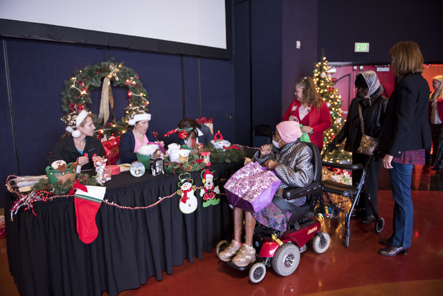 Guest arrive at the James Seastrand Helping Hands of North Las Vegas annual Christmas party for seniors at the Cannery hotel-casino in North Las Vegas on Thursday, Dec. 4, 2014. (Martin S. Fuentes ...
