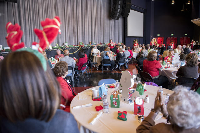 Guest enjoy the annual James Seastrand Helping Hands of North Las Vegas Christmas party for seniors at the Cannery in North Las Vegas on Thursday, Dec. 4, 2014. (Martin S. Fuentes/Las Vegas Review ...