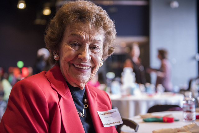 Carmen Hinton poses for a photo at the annual James Seastrand Helping Hands of North Las Vegas Christmas party for seniors at the Cannery in North Las Vegas on Thursday, Dec. 4, 2014. (Martin S. F ...