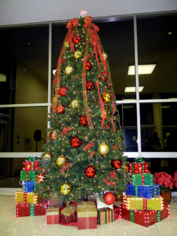 North Las Vegas Christmas Tree is shown during a lighting ceremony in City Hall on Wednesday, Dec. 1, 2010. This year's tree lighting event is scheduled at 5 p.m. Dec. 10 inside North Las Vegas Ci ...