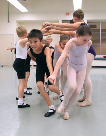 Children rehearse for the Nevada Ballet Theater's 2014 production of The Nutcracker Wednesday, Dec. 3, 2014. (Sam Morris/Las Vegas Review-Journal)
