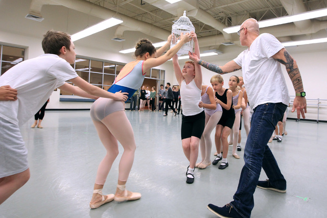 Artistic director James Canfield directs during rehearsals for the Nevada Ballet Theater's 2014 production of The Nutcracker Wednesday, Dec. 3, 2014. (Sam Morris/Las Vegas Review-Journal)