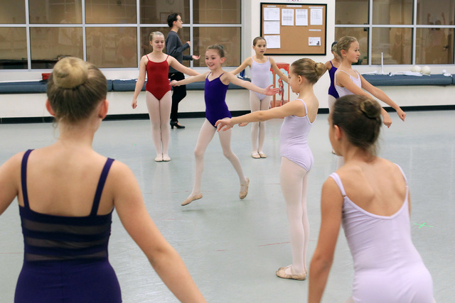 Children rehearse for the Nevada Ballet Theater's 2014 production of The Nutcracker Wednesday, Dec. 3, 2014. (Sam Morris/Las Vegas Review-Journal)