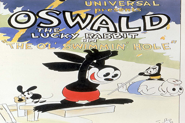 One of Walt Disney's oldest creation, Oswald the Lucky Rabbit has been resurrected from a library vault. (Walt Disney Co./AP)