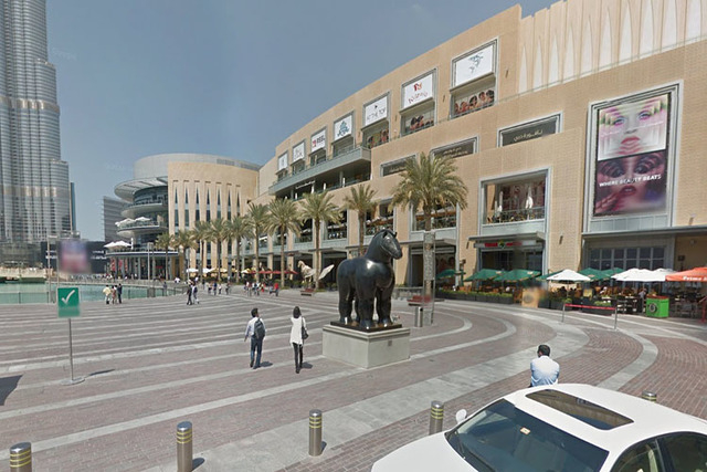Outside of the Dubai Mall. (Screen grab/Google Street View)