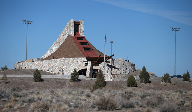 The Pyramid Lake Museum and Visitors Center, in Nixon, Nev., features the history and culture of the Paiute Tribe. The unique stone structure, about an hour northeast of Reno, is seen on Wednesday ...