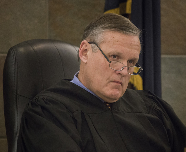 "District Court Judge David Barker presides over the sentencing of Dina Palmer, the mother who pleaded guilty in beatings that lead to the death of her 7-year-old son, Roderick ""RJ"" Arrington, on W ..."