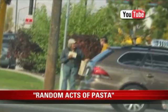 Matt Tribe says when he bought one of Olive Garden's limited edition, never ending pasta passes, it was to fulfill his love of pasta. He soon saw another benefit. (Screengrab/KSTU)