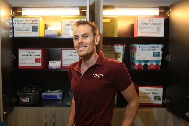 Robert Peraza, outreach coordinator for The Center, is seen Friday, Dec. 5, 2014. (Sam Morris/Las Vegas Review-Journal)