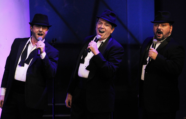 Members of the Phat Pack, from left, Kevan Patriquin, Bruce Ewing, and Randal Keith perform in the Windows Showroom at Bally's in Las Vegas on Dec. 11, 2013. (Jason Bean/Las Vegas Review-Journal)