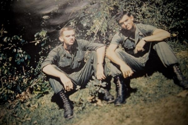 U.S. Marines, Pfc Phil Cushman, left, and Lance Cpl. Doug Stahr pose for a portrait near Qui Nhon, Vietnam, in 1965. Today Cushman is an advocate for veterans who have run into bureaucratic roadbl ...