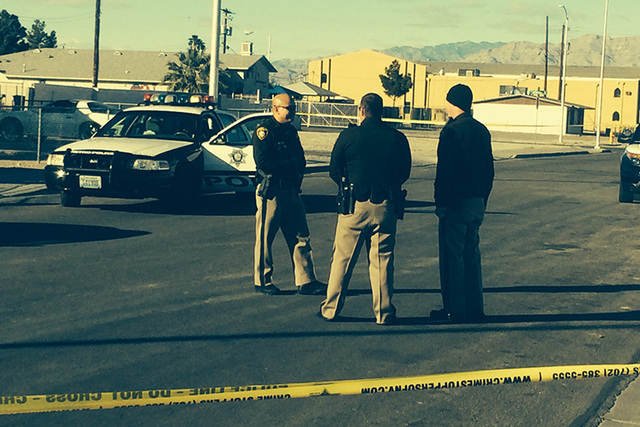 Las Vegas police are investigating a possible shooting in the central valley. (Bizuayehu Tesfaye/Las Vegas Review-Journal)