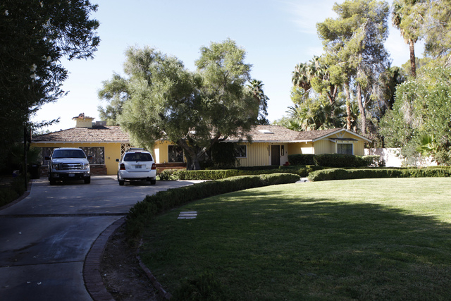 The home of Greg Puliz inside the gated community of Rancho Circle in Las Vegas is seen on Sunday, Sept. 28, 2014. The private community has been populated by rich and famous people for most of it ...