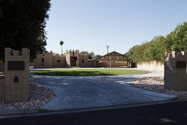A home inside the gated community of Rancho Circle in Las Vegas is seen on Sunday, Sept. 28, 2014. The private community has been populated by rich and famous people for most of its history. (Erik ...