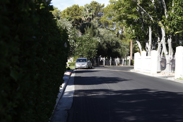 The gated community of Rancho Circle in Las Vegas is seen on Sunday, Sept. 28, 2014. The private community has been populated by rich and famous people for most of its history. (Erik Verduzco/Las  ...