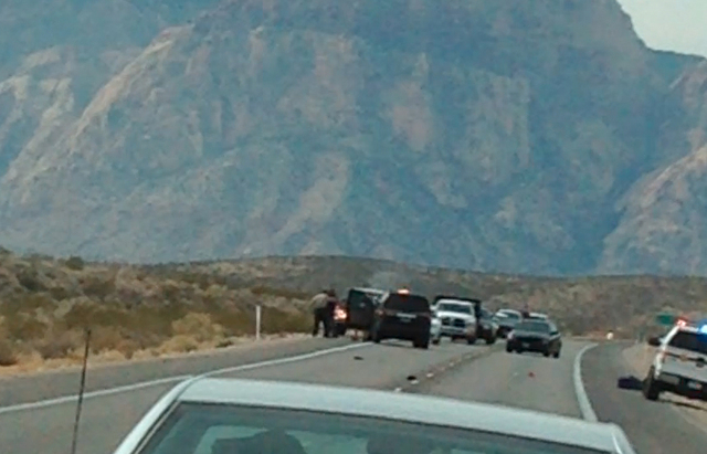 Park rangers attempted to detain a man walking on the road near the Red Rock National Conservation Area, Feb. 14, 2014. The event escalated and D'Andre Berghardt Jr., 20, was shot after getting in ...
