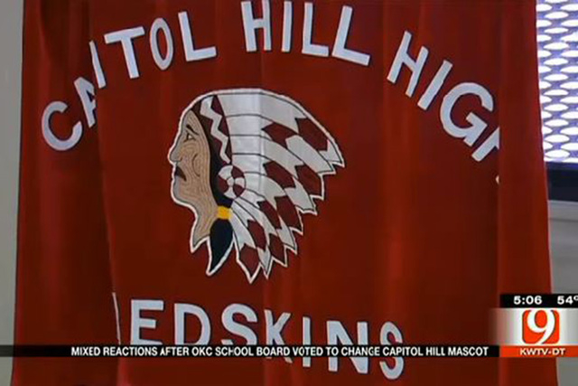 """The Oklahoma City Public Schools Board has voted unanimously to remove """"Redskins"""" as the nickname for a high school after hearing pleas from students and teachers who found the term offensive, ..."""