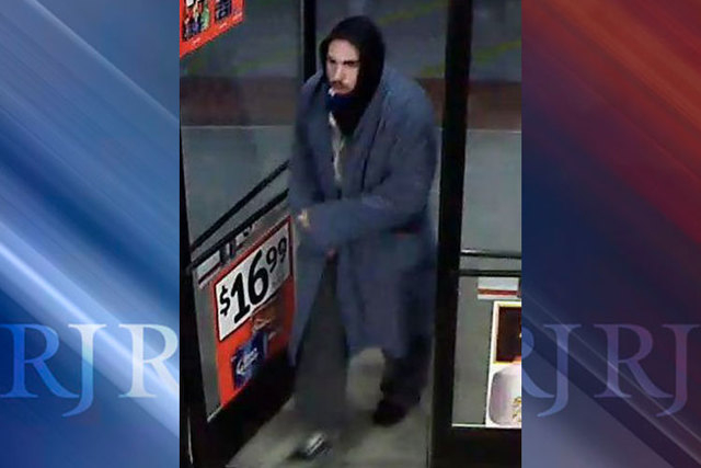 Las Vegas police are looking for this suspect in connection with an armed robbery of a Circle K convenience store, 8545 Blue Diamond Road, on Sunday, Dec. 7, 2014. (Courtesy/Las Vegas Metropolitan ...