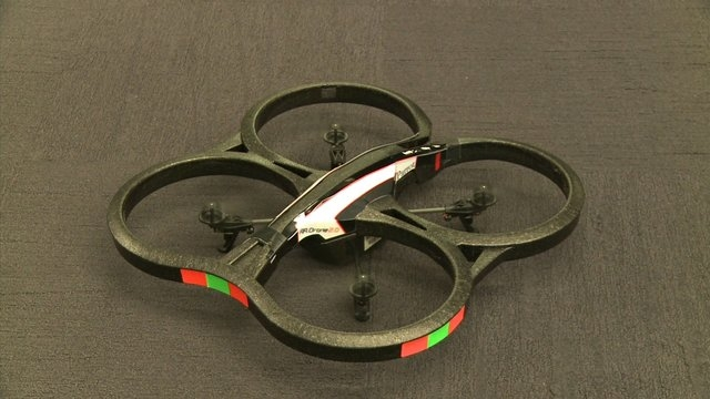 Drone-maker Parrot is releasing two new models of miniature drones this August: the Jumping Sumo and the Rolling Spider. (CNN File)