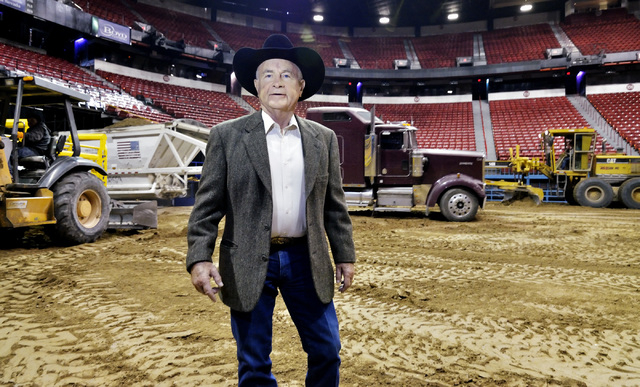 Shawn Davis, general manager of the National Finals Rodeo, is shown during preparations for the rodeo at the Thomas & Mack Center at 4505 S. Maryland Parkway in Las Vegas on Sunday, Nov. 30, 2014. ...