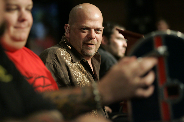 Rick Harrison talks about an item brought in by a customer during Pawn Stars road show at the Suncoast casino in Las Vegas Saturday, Aug. 7, 2010. (John Locher/Las Vegas Review-Journal)