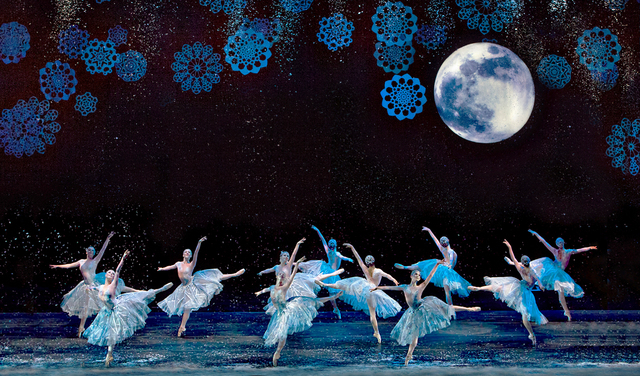 """""""The Nutcracker's"""" first-act finale, """"Waltz of the Snowflakes,"""" closes the ballet's first act. Nevada Ballet Theatre's """"The Nutcracker"""" opens an eight-performance run Saturday at The Smith Center. ..."""
