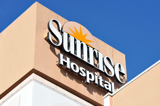 Sunrise Hospital is seen on Friday, Oct. 17, 2014. (David Becker/Las Vegas Review-Journal)