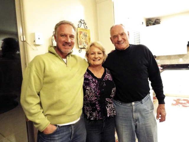 Members of the Kaster family were among those who attended a reunion Nov. 22 at Ellen Foutz Sinquefield's Aliante home. Pictured from left are Duff Kaster, his sister Anne Hein and their father, ...