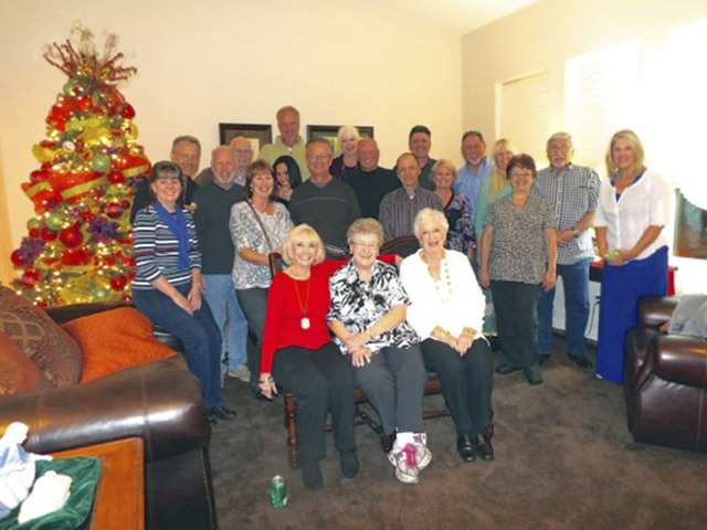 Many of the friends who gathered Nov. 22 for a reunion knew each other 50 years ago as neighbors on Lorna Place in the Hyde Park area of Las Vegas. (Diane Taylor/Special to View)