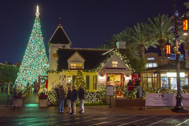 Santa's house at Town Square is seen Friday, Nov. 28, 2014. (Sam Morris/Las Vegas Review-Journal)