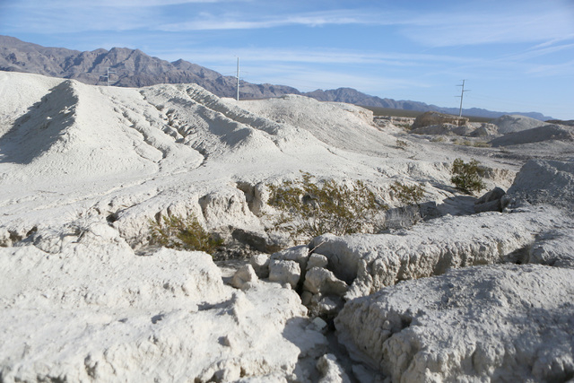 A portion of proposed Tule Springs Fossil Beds National Monument can be seen Monday, Nov. 18, 2013. A bill is currently in Congress to place most of the 22,650-acre area under the control of the N ...