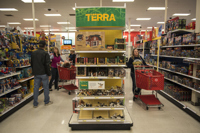 Shoppers peruse Target on 605 N. Stephanie St. in Henderson, Nev., looking for Black Friday deals on Friday Nov. 28, 2014. (Martin S. Fuentes/Las Vegas Review-Journal file photo)