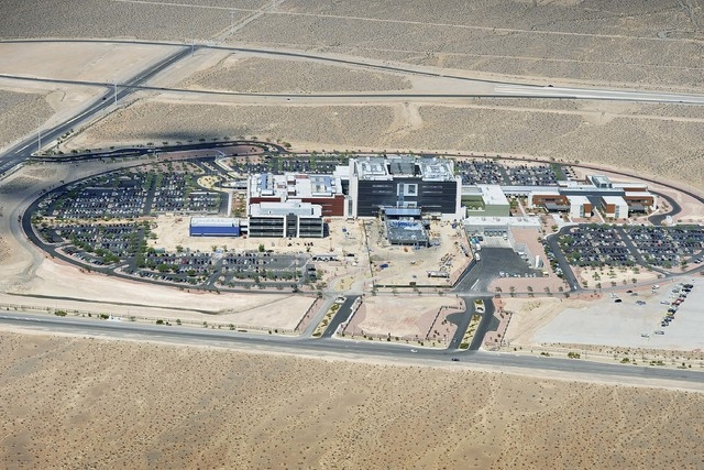 An aerial view of the VA Medical Center in North Las Vegas is seen on Tuesday, Sept. 9, 2014. (David Becker/Las Vegas Review-Journal)